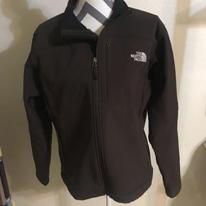 North Face Women's APEX Brown Jacket Sz L EUC